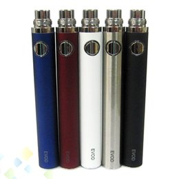 Wholesale Ego Clicks - Colorful EVOD Battery 650mah 900mah 1100mah Match 510 EGO thread atomizer with high quality 5 times click on off EVOD E Cigarette