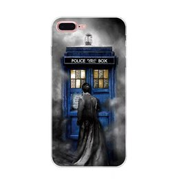 Wholesale Doctor Iphone Cover - Hot Selling Doctor Who Phone Case for Apple Iphone 7 Popular Oil Painting Soft Silicone Transparent TPU Phone Cover For Iphone 6plus 7plus