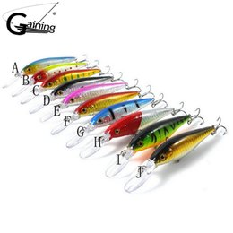 Wholesale Retail gaining hot model fishing lures hard bait different colors for choose mm g minnow quality professional minnow