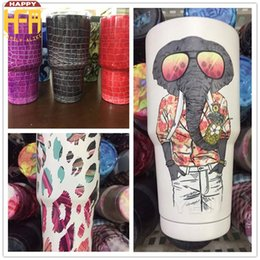 Wholesale Stainless Steel Bottle Print - 30OZ Stainless Steel Cups Vacuum Insulated Water Bottle Double Rendering Color Mug Camo Car Cup Printing Colorful Mixed Color