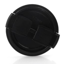 camera 5x Coupons - Wholesale-5x HFES TextuRed Black Plastic 52mm Lens Cover Cap For Camera