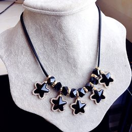 Wholesale Onyx Necklace For Women - Black Crystal Statement Necklace Pendants Jewelry For Women