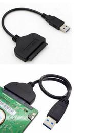 Nova super velocidade usb 3.0 para sata 22 pin 2.5 polegada de disco rígido driver conversor adaptador de cabo ssd supplier ssd laptop adapter de Fornecedores de adaptador laptop ssd