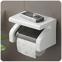 Wholesale Toilet Roll Holder Waterproof - Wholesale- Amazing Durable Bathroom Toilet Tissue Holder Roll Paper Holder Wall Mounted Waterproof Tissue Box