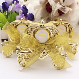 Wholesale Love Carriage Wedding Box Party Favours Gift Candy Chocolate Box Gold and Silver Box for Wedding Baby Birthday Party