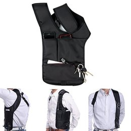 Wholesale Wholesale Nylon Backpack - Wholesale- Travel Safe Anti-Theft Hidden Underarm Shoulder Bag Double-Bag Design Pouch