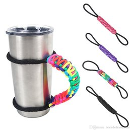 Wholesale Wholesale Cup Carrier - Adjustable Paracord Water Bottle Cup Tumbler Handle Bottle Ring Rope Carrier Survival Strap for 30oz Yeti Ozark Tumbler