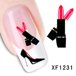 Wholesale water decals transfers - 60 Styles 3D Water Transfer Nails Art Sticker decals Watermark Artificial flowers Lady Women Manicure Tools Nail Wraps Decals