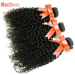 Wholesale Sunlight Brazilian Hair - 3pcs Malaysian Virgin Hair Curly Human Hair Bundle Deals 8~30 Inch Sunlight Hair Company Malaysian Curly MacSwan
