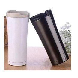 Wholesale Thermos Flask Sale - Wholesale- Hot Sale Double Wall Stainless Steel Coffee Thermos Cups Mugs Thermal Bottle 500 ml Thermocup Fashion Tumbler Vacuum Flask