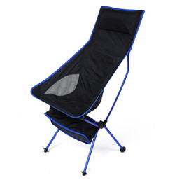 Wholesale outdoor aluminium chair - Wholesale- Extended Chair For Outdoor Activities Aluminium Alloy Fishing Chair Water Resistance Fishing Chair For Camping Hiking Fishing