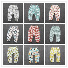 Wholesale Busha Baby Cartoon Animals - 2017 Cartoon Baby Busha PP Pants Baby Girls Boys Panda Brand Leggings Baby Clothing Trousers Harem Leggings Kids Striped Tights Melee
