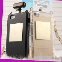 Wholesale Chain Protective Covers - 2017 Hot Perfume Bottle Case For Samsung Galaxy S8 S8 Plus iPhone 7 7 Plus Case With Chain Protective Handbag Phone Cover