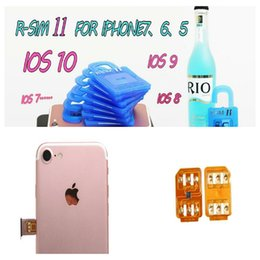 Wholesale Iphone 3g Tray - Unlock card R SIM 11 RSIM11 r sim11 rsim 11 for iPhone 5 6 7 6plus iOS7 8 9 10 ios7-10.x CDMA GSM WCDMA SB AU SPRINT 3G 4