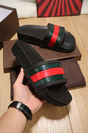 Wholesale Fashion Best - NEW Europe Brand Fashion mensstriped sandals causal Non-slip summer huaraches slippers flip flops slipper BEST QUALITY