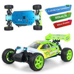 Wholesale Nitro Rc Cars Road - 2016 Limited Top Fashion Gasoline petrol Cars Pixar Juguetes Rc Car 1:10 High Speed Remote Control Gas Cars 4wd Powered Off-road Truck Nitro