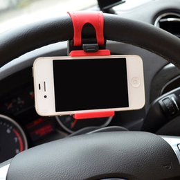 Wholesale Iphone Auto Accessories - Wholesale- Hot Sale Universal Auto Phone Holder Car Bike Smart Clip Mount Phone Accessories For Iphone Samsung GPS Mobile