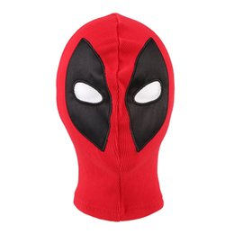 Wholesale Masks Hoods For Men Women - New Deadpool Masks Balaclava X-Men Halloween Costume Hood Cosplay Full Face Mask One Size Fit Most Adult Men or Women
