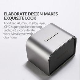 Aluminiumlautsprecher online-Bluetooth Lautsprecher Mini Tragbare BT4.0 Lautsprecher Aluminium Wireless Hand Kostenlose MIC Boombox Subwoofer USB AUX-Ports Lautsprecher