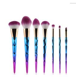 7 pcs / set Maquillage Brosses Set Lip Ombre à Paupières Sourcils Poudre Surligneur Blush Cosmétique Mélange Coloré Doux Cheveux Synthétiques Make Up Brosses ? partir de fabricateur