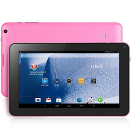 Wholesale Ram Pc - 9 inch A33 Android 4.4 WVGA Screen Tablet PC Quad Core 1.3GHz 512MB RAM 8GB ROM OTG WiFi Bluetooth Free Shipping