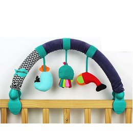 Wholesale Travel Arch - Wholesale- Multifunction Sea World Baby Stroller Crib Clip Hanging Rattle Early Education Travel Arch with Detachable Toys for Baby Buggy
