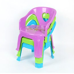 Wholesale Wholesale Bench Chairs - Kindergarten Children Chair Children Heart-shaped Hollow Can be superimposed Backrest Chair Plastic Firm Baby Small Bench