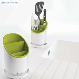 Wholesale Dish Rack Layers - Easy To Use Kitchen Home Drainer Strainer Organizer Dryer Storage Spork Spoon Cutlery Holder (green color)