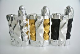 Wholesale Style Connections - AV Gyre Box Mod Limited Edition Fast Twist Style Gyre Tubes Hybrid Connection Competition Mech Box Mod Vape DHL Free