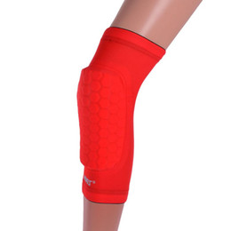 Wholesale Wholesale Soccer Drop Ship - Wholesale- 1pc Soft Knee Support Honeycomb Sponge Pad Gel Brace Basketball Soccer Gym Sport Pad Drop Shipping