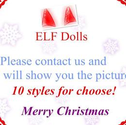 Wholesale Plush Toys For Girls - Plush ELF Dolls Red Girl & Boy Figure Christmas elves Soft Book of Christmas Novelty Toys Xmas Gift For Kids Holiday Gift