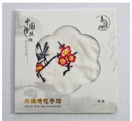 reine lila brautkleider Rabatt Einzigartiges Weiß gesticktes Silk Taschentuch-erwachsenes Frauen-kleines quadratisches Tuch chinesisches ethnisches Handwerks-Geschenk 10pcs / lot geben Verschiffen frei