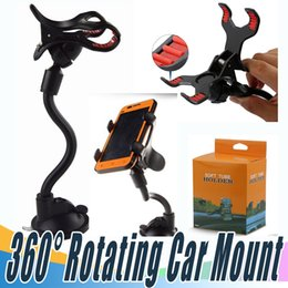 Wholesale Rotating Arm - New 360° Rotating Car Mount Long Arm Car Phone Suction Cup Holder Universal Windshield Dashboard Cell Phone Rotation Holder