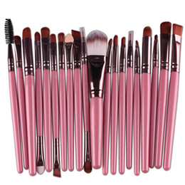 Wholesale Nylon Tools - Professional 20pcs Makeup Brushes Set Cosmetic Face Eyeshadow Brushes Tools Makeup Kit Eyebrow Lip Brush Fast DHL shipping