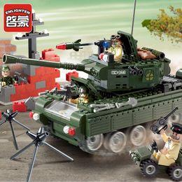 Wholesale Enlighten Brick Military - 2017 Brand New Enlighten Military series Tank 823 Building Block Minifigure Assembling Constructions Brick Kids Toy Gift Legoe Compatible
