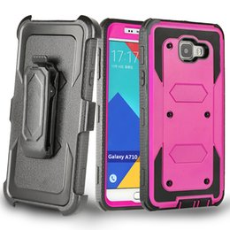 Wholesale Hybrid Kickstand Case Clip - Hybrid Rugged Defender Hard Phone Case Cover Built-in Screen Protector +Clip For Samsung G530H G360H On5 J1 J3 J5 J7 Prime A310 A510 A710