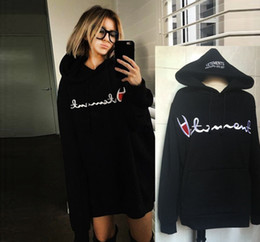 Wholesale New Cashmere Sweater Xl Woman - New hot VETEMENTS Hooded sweater star with the oversize letter embroidered men and women plus cashmere loose thick coat