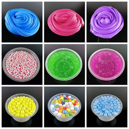 Wholesale Toy Gifts For Kids - diy Fluffy Foam crystal Slime Scented Play Dough Kids Stress Relief Sludge Toy Cotton Mud Plasticine Modeling Clay for Children Gift