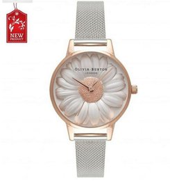 Wholesale Womens Flower Watches - Fashion Casual Womens Flowers Watches Top Brand Luxury Slim Steel Mesh Business Quartz-Watch Women Wristwatch Relogio Masculino