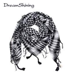 2019 arabischer schalgroßverkauf Großhandels-DreamShining arabischer Shemagh taktischer Palästina-heller Polyester-Schal-Schal für Männer arbeiten Plaid-Druckmänner Schal-Verpackungen um günstig arabischer schalgroßverkauf