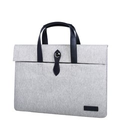 Wholesale Canvas Tablet Cover Inch - 13.3 15.4 15.6 Inch Laptop sleeve Case Cover Protective Bag Ultrabook Carrying Case for Macbook Air Macbook Pro Retina