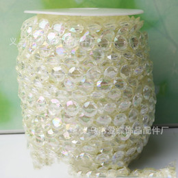 Wholesale Pearl Decorated - 10mm DIY Line Bead The Wedding Crystal Beads Connect Decorate Stage Background A String Of Pearl Lines Beading 30 meters One Piece 16ad R