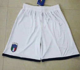 Wholesale Italy Home - New 2017 2018 Italy home White Soccer shorts 2017 18 De Rossi Bonucci Verratti Chiellini Football Shirt 2018 Italy shirts pant.