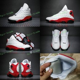 Wholesale Baseball Cat - 2017 High Quality Retro 13 Chicago White Red Black Cat Men Women Basketball Shoes 13s Chicago Sneakers Eur Size 36-47 us 5.5-13