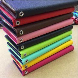Wholesale Mercury Case Korea - South Korea Mercury M leather hit color leather case for i8 phone x shell bracket card wallet i8 protective cover 2017 hot sale
