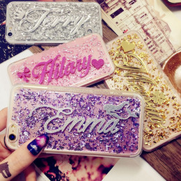 Wholesale names personal - for Samsung Galaxy J3 J5 J 7 A3 A5 2016 2017 2018 prime Luxury Exclusive Customize Name Personal Glitter soft flake phone case
