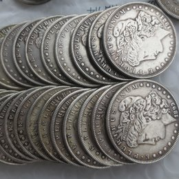 Wholesale Imitation Metal - A SET OF Morgan Dollars 1878-1921 96pcs Different Date sign Copy Coins , to the United States free shipping DHL