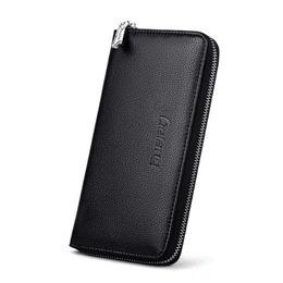Wholesale Long Chain Handbags - Hot Selling Wallet Long Design Men Wallets PU Leather High Grade Clutch Bag Zipper Coin Purse Handbag