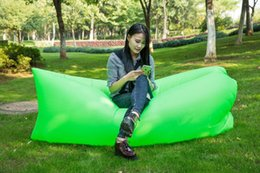 Wholesale New Sofa Leather - 2016 New Outdoor Beach Inflatable Sofa Home Folding Inflatable Bed Portable Removable Sleeping Bags for Camping Hilking