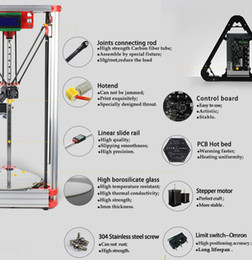 Wholesale Hot Printer Machine - High Precision 3 D Delta 3D Printer Pro Auto Level K800 Kossel Reprap Prusa 3D-Printer Machine Kit With Hot Bed Injection rostoct